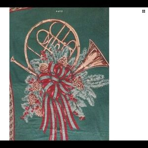 Other - CHRISTMAS BLANKET Antique French Horn Reversible